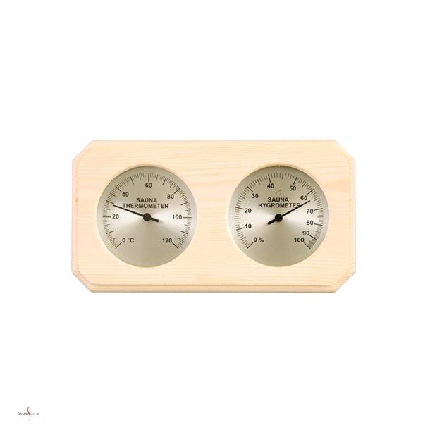 Saunatermometer og hygrometer i Gran.