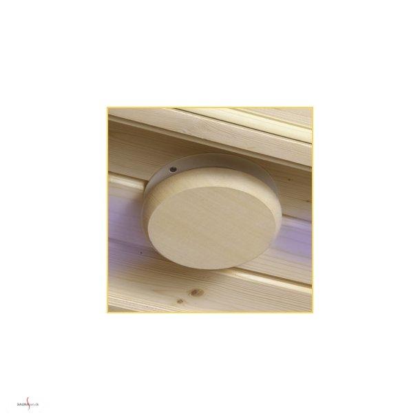 Udluftningsventil (loft) til sauna.