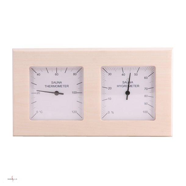 Saunatermometer og hygrometer Quadro.