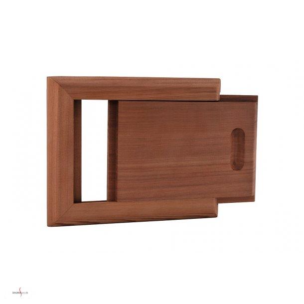 Ventilationsspjæld i Cedertræ til saunarum
