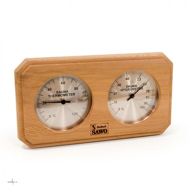 Saunatermometer og hygrometer i Cedertræ.