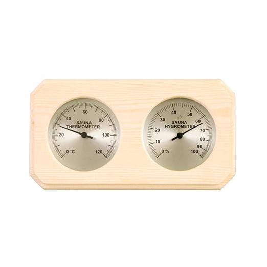 Saunatermometre - hygrometre - ure m.v.